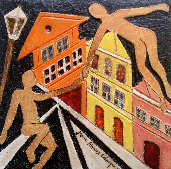 Tile for the Mural Let's Meet In  Wroclaw 2016